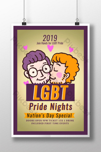 LGBT Pride 2019 Poster Template PSD