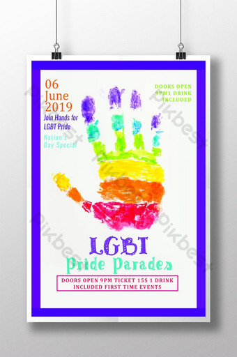 مسيرات الفخر المثليين قوالب ملصق نشرة إعلانية قالب PSD