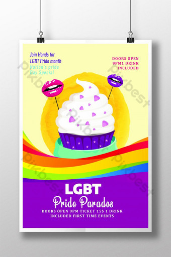 LGBT Pride Party Invite & Poster Templates Template PSD