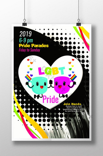 New LGBT Pride Poster Templates Template PSD