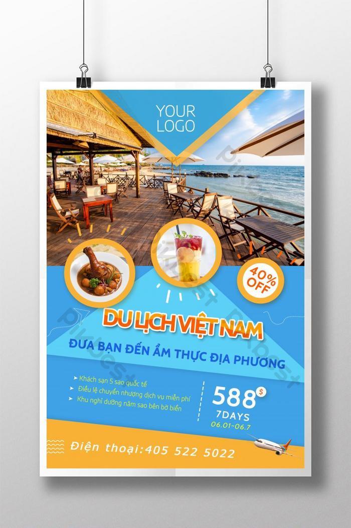 poster giảm giá du lịch việt nam
