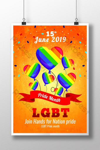 LGBT Pride 2019 Poster Templates Template PSD