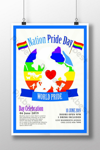 Happy Pride Month Template Poster Template PSD
