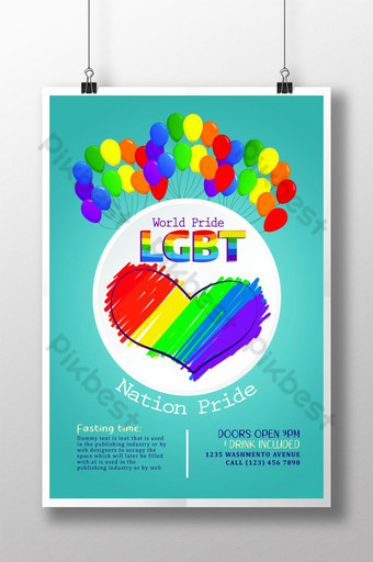 New LGBT Pride Night Templates Poster Template PSD