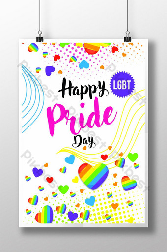 Happy Pride Month Flyer Template Poster Template PSD