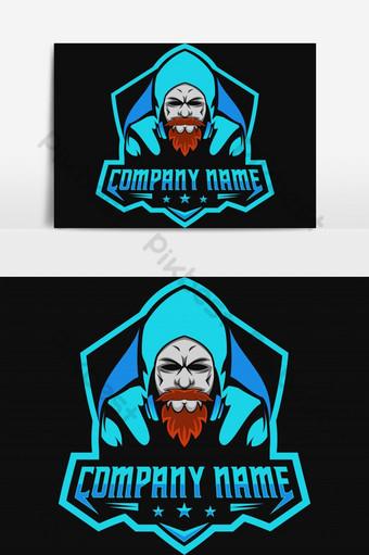 barba hombre jugadores juegos e deporte logo elemento gráfico Elementos graficos Modelo EPS