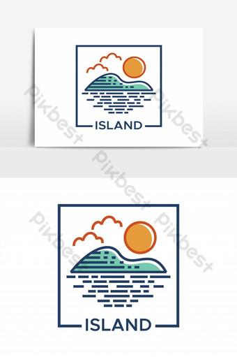 paglalarawan ng vector ng isla ng isla Imahe ng PNG Template EPS