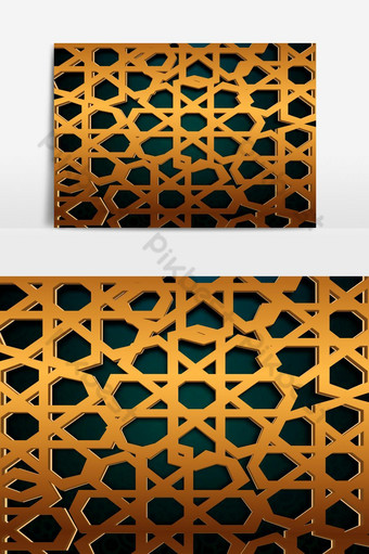 elemento gráfico de patrón geométrico árabe Elementos graficos Modelo EPS