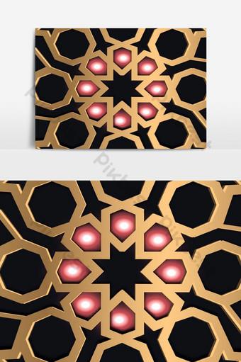 vector islámico de patrones sin fisuras árabe geométrico oriental ornamento elemento gráfico persa Elementos graficos Modelo EPS