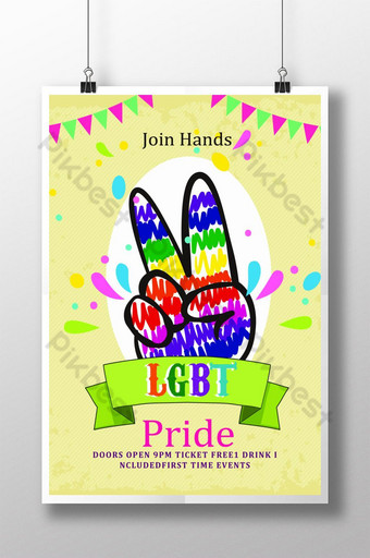 Give A Thumb Up For LGBT Pride Flyer Template PSD