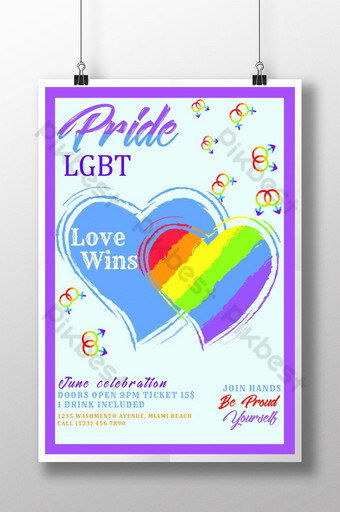 Pride Month Celebration Poster Templates Template PSD