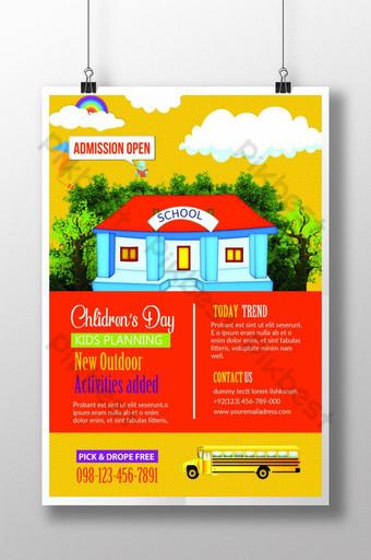 Affiche de modèles de flyers de camping pour enfants Modèle PSD