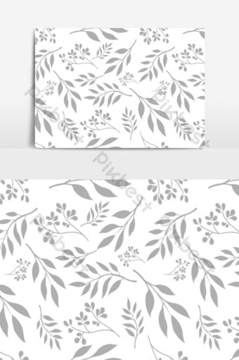 patrón floral vintage transparente en elemento gráfico vectorial Elementos graficos Modelo EPS