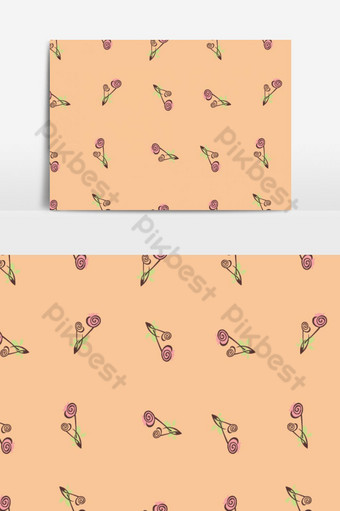 Patrón floral de tulipanes sin costura en elemento gráfico vectorial Elementos graficos Modelo EPS