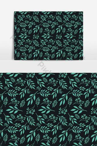 patrón sin costuras pequeño fondo floral vector tosca Elementos graficos Modelo EPS