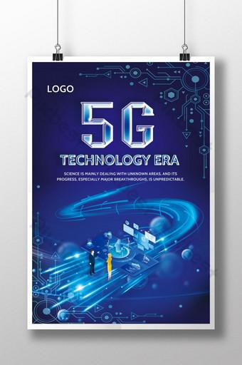 poster 5g de estilo de tecnologia Modelo PSD