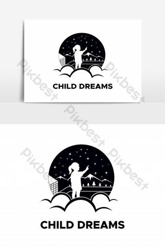 vector de logo de sueños de niño Elementos graficos Modelo EPS