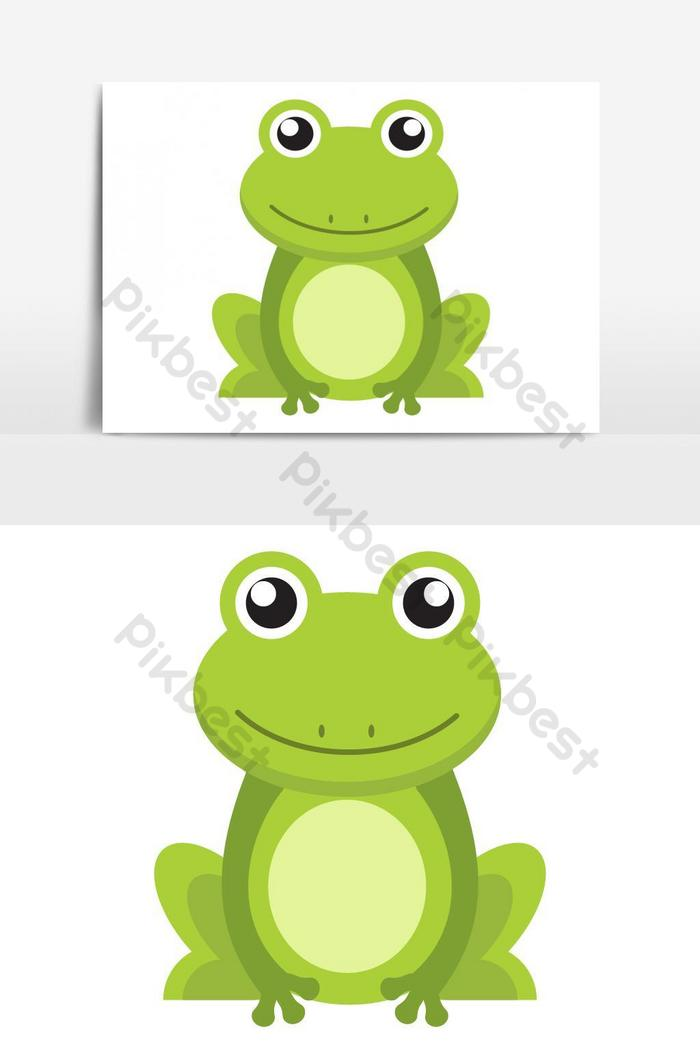 Cute Green Frog Cartoon Character Isolated On White Background Png Images Eps Free Download Pikbest