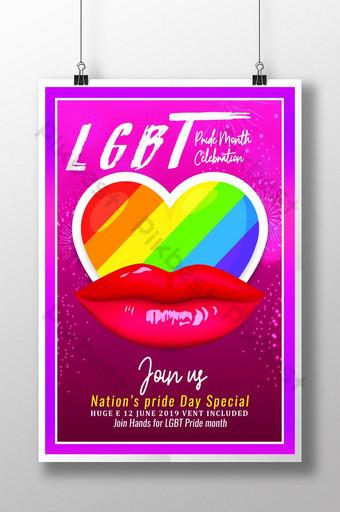 انضم إلينا في قالب ملصق قضية المثليين قالب PSD