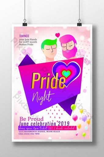 زوجين مثلي الجنس قوالب ملصق مثلي الجنس قالب PSD