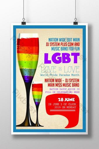 قوالب نشرة إعلانية لحفلة المثليين قالب PSD