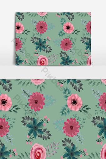 pequeño fondo floral de patrones sin fisuras Elementos graficos Modelo EPS