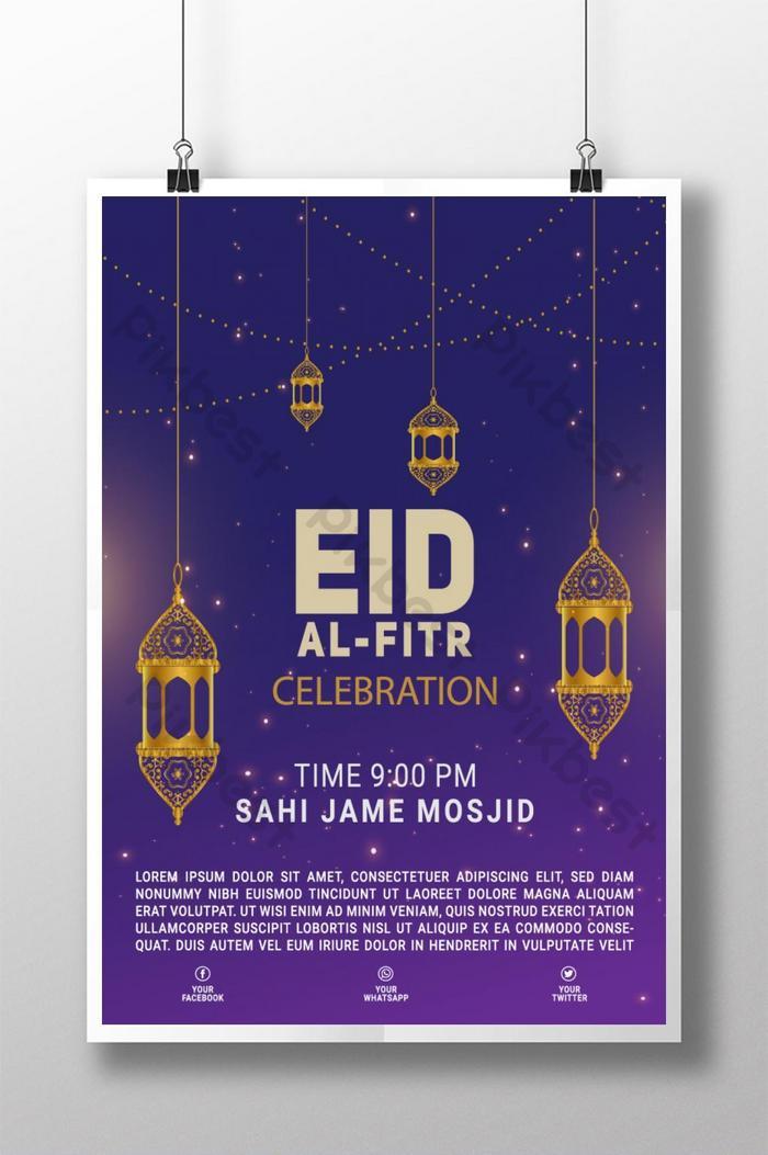 mẫu poster happy eid ul fitr cho công ty