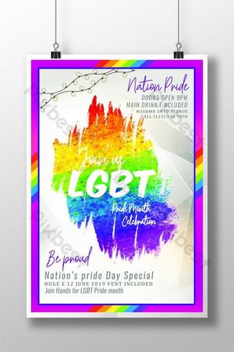 مثلي الجنس فخر قالب ملصق الاحتفال قالب PSD