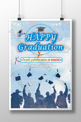 Beautiful and happy graduation season Template CDR
