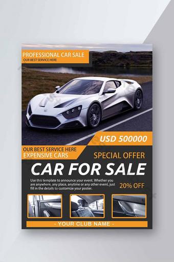 folheto de venda de carros esportivos de alta qualidade Modelo PSD