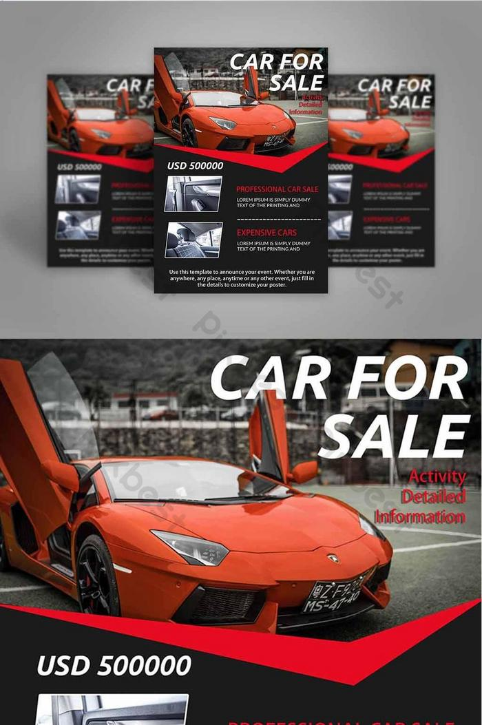 Car Sales Interior Introduction Red Sports Car Flyer Psd Free Download Pikbest
