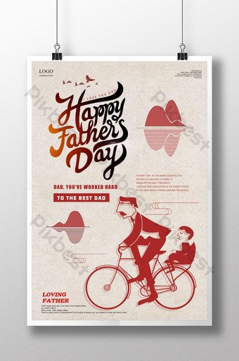 Creative Happy Fathers Day Poster Template PSD
