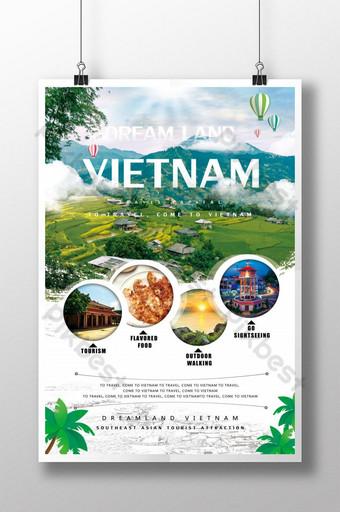 pelancongan vietnam Templat PSD