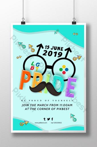 Celebrate LGBT World Pride Poster Template PSD