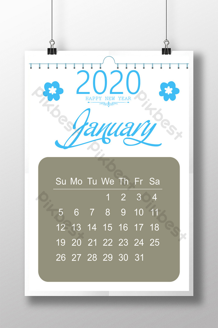 Calendar Design 2020 Psd Free Download Pikbest