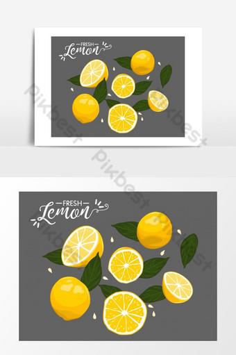 الصيف الطازجة عنصر ناقل الليمون صور PNG قالب EPS