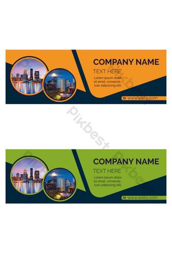 reka bentuk sepanduk korporat untuk syarikat anda Elemen Grafik Templat EPS