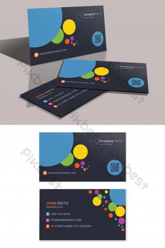 Modèle de carte de visite colorée créative Modèle AI