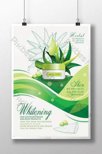 Modèles d'affiche de produits à base de plantes vertes à l'aloe vera Modèle PSD