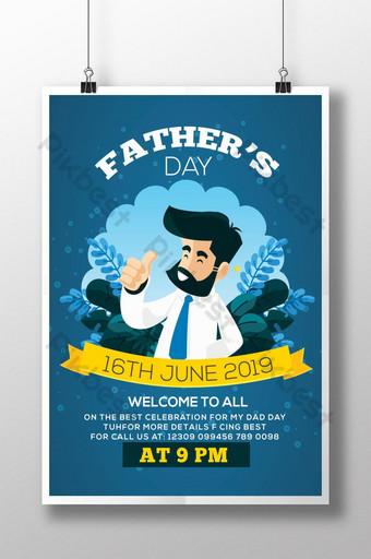 Father's Day Celebration Psd Flyer Template PSD