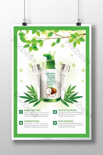 Modèles d'affiche à base de plantes de produits verts Modèle PSD