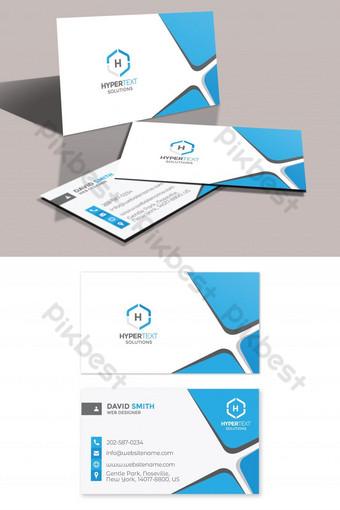 Carte de visite minimaliste d'entreprise Modèle PSD