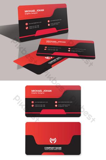 cartes de visite rouges et noires Modèle PSD