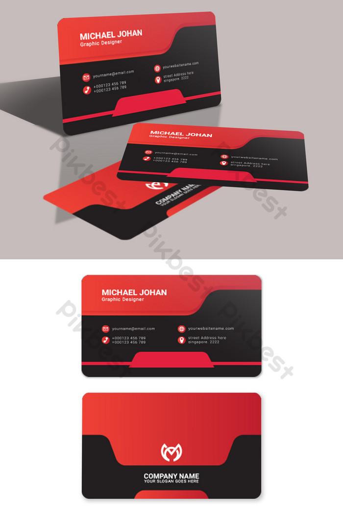 kad perniagaan merah dan hitam