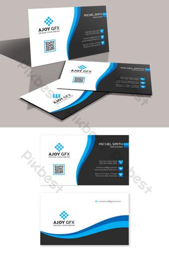 Conception de carte de visite d'entreprise unique Modèle PSD