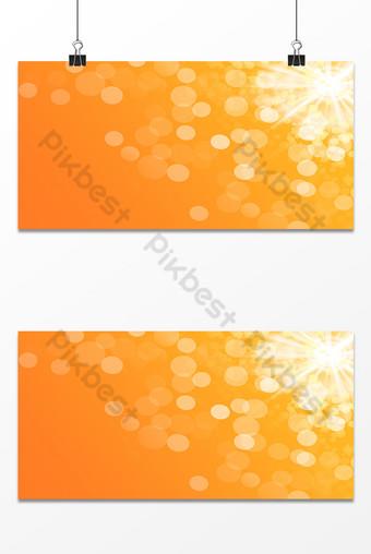 Image d'arrière-plan de l'effet de halo de lumière orange Fond Modèle PSD