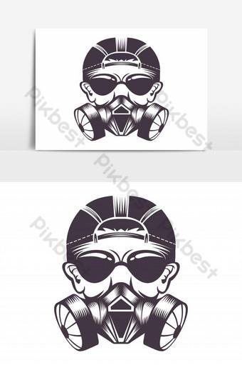 elemento gráfico de vector de máscara de gas Elementos graficos Modelo EPS