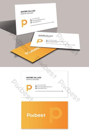 Modèle de carte de visite simple minimaliste propre Modèle PSD