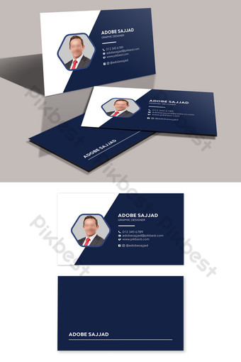 plantilla de tarjeta de visita de foto de retrato personal de estilo moderno Modelo PSD