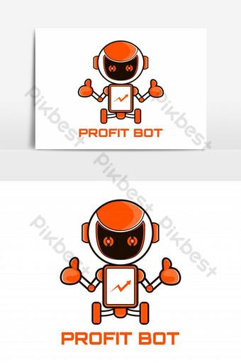 vector de mascota de marketing de robot Elementos graficos Modelo EPS